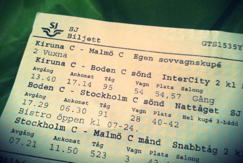 Fair Trade blogg fjällvandra tåg Kiruna Malmö