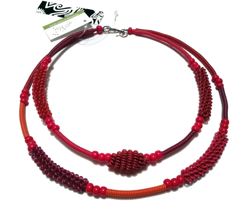 Fair Trade webbutik uSisi Design halsband röd