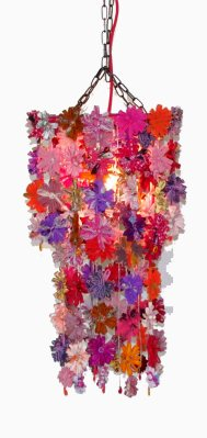 Lampa återvunnet sarityg rosa Fair Monkey 1