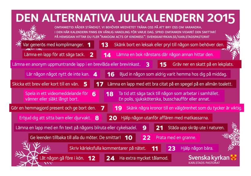 Den alternativa adventskalendern 2015
