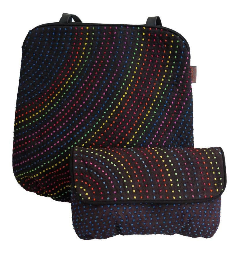 Lususu Rainbow handbag and clutch